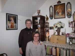 Sarah and Carol Feb 2015