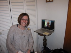 Sarah with Skyped FrLangsch Feb 2015